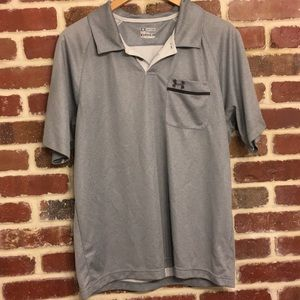 Under Armour gray polo shirt size large